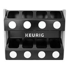 PREMIUM K-CUP POD STORAGE RACK 8-SLEEVE, 16 X 21 X 18, BLACK