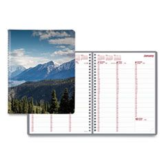 MOUNTAINS WEEKLY APPOINTMENT BOOK, 11 X 8.5, BLUE/GREEN/BLACK, 2021