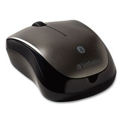 BLUETOOTH WIRELESS TABLET MULTI-TRAC BLUE LED MOUSE, 2.4 GHZ FREQUENCY/30 FT WIRELESS RANGE, LEFT/RIGHT HAND USE, GRAPHITE