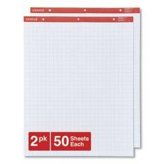 EASEL PADS/FLIP CHARTS, 27 X 34, WHITE, 50 SHEETS, 2/CARTON