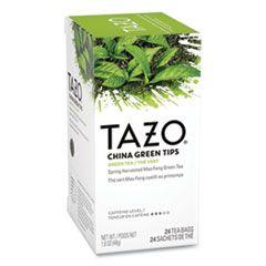 Tea Bags, China Green Tips, 24/box