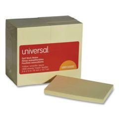 Self-Stick Note Pads, 3 X 5, Yellow, 100-Sheet, 18/pack