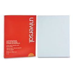 """LAMINATING POUCHES, 5 MIL, 9"""" X 11.5"""", MATTE CLEAR, 100/PACK"""