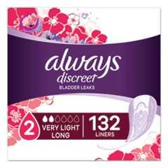DISCREET INCONTINENCE LINERS, VERY LIGHT, LONG, 44/PACK