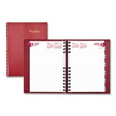 COILPRO DAILY PLANNER, RULED 1 DAY/PAGE, 8.25 X 5.75, RED, 2021