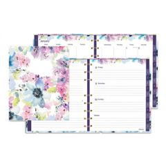 MIRACLEBIND WEEKLY/MONTHLY PLANNER, 9.25 X 7.25, FLORAL, 2021