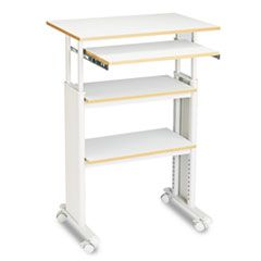 ADJUSTABLE HEIGHT STAND-UP WORKSTATION, 29.5W X 22D X 49H, GRAY