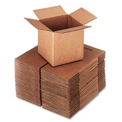 """CUBED FIXED-DEPTH SHIPPING BOXES, REGULAR SLOTTED CONTAINER (RSC), 6"""" X 6"""" X 6"""", BROWN KRAFT, 25/BUNDLE"""
