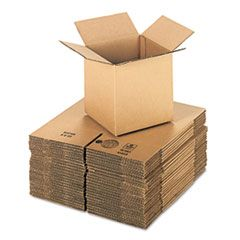 """CUBED FIXED-DEPTH SHIPPING BOXES, REGULAR SLOTTED CONTAINER (RSC), 8"""" X 8"""" X 8"""", BROWN KRAFT, 25/BUNDLE"""