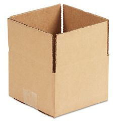 """FIXED-DEPTH SHIPPING BOXES, REGULAR SLOTTED CONTAINER (RSC), 6"""" X 6"""" X 4"""", BROWN KRAFT, 25/BUNDLE"""