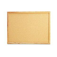 Cork Board With Oak Style Frame, 24 X 18, Natural, Oak-Finished Frame